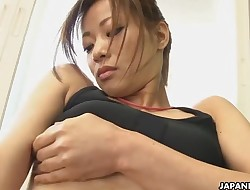 Astonishing Japanese babe got horny during the solo sport