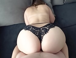 Young with big bum in black panties fucked