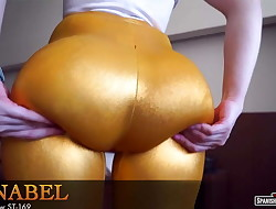 Meaty fat bum chick with tremendous cameltoe