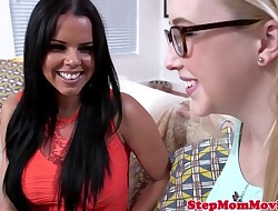 Latina stepmom doggystyled after sharing dick